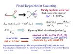 fixed target m ller scattering