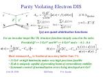 parity violating electron dis