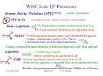 wnc low q 2 processes