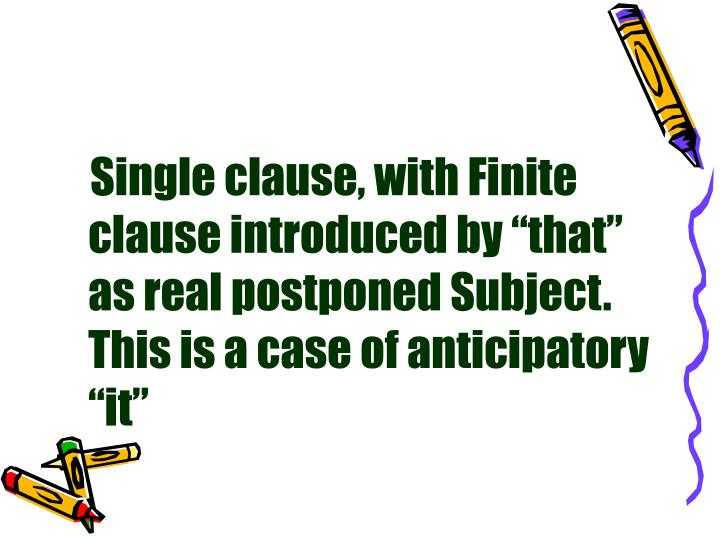 """Single clause, with Finite clause introduced by """"that"""" as real postponed Subject. This is a case of anticipatory """"it"""""""