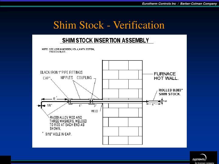 Shim Stock - Verification