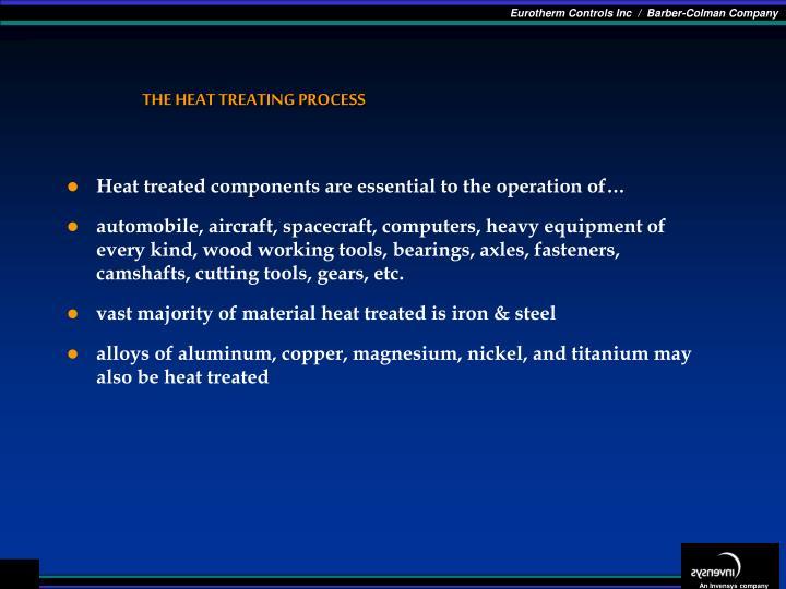 The heat treating process