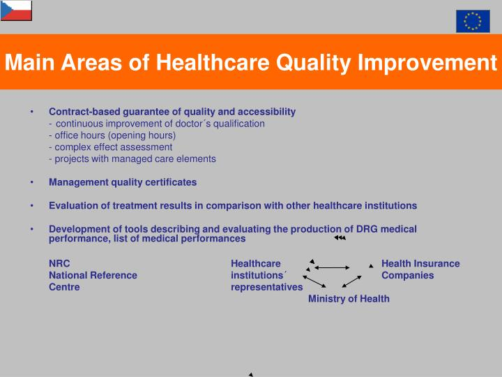 Main Areas of Healthcare Quality Improvement