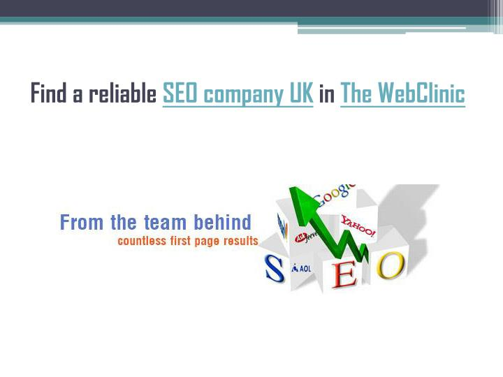 Find a reliable seo company uk in the webclinic