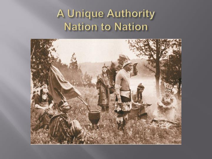 a unique authority nation to nation n.
