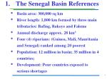1 the senegal basin references