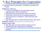 5 key principles for cooperation