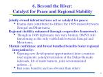 6 beyond the river catalyst for peace and regional stability
