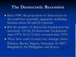 the democratic recession