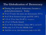 the globalization of democracy