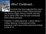 who continued4