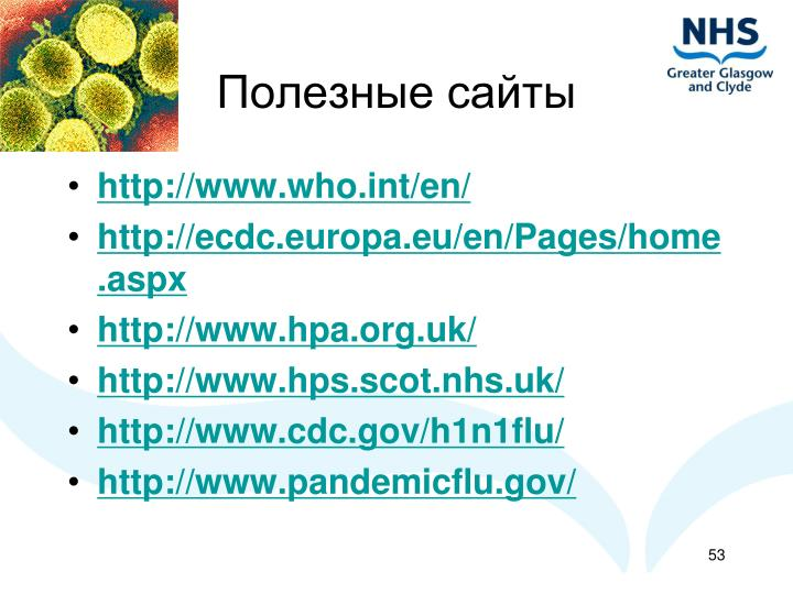 Полезные сайты