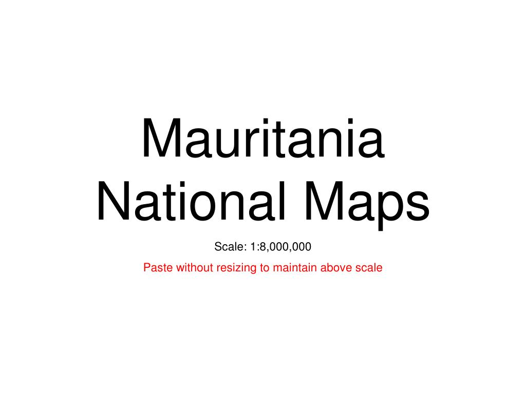 mauritania national maps l.