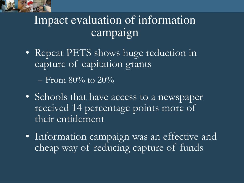 Impact evaluation of information campaign