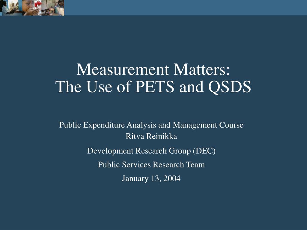Measurement Matters: