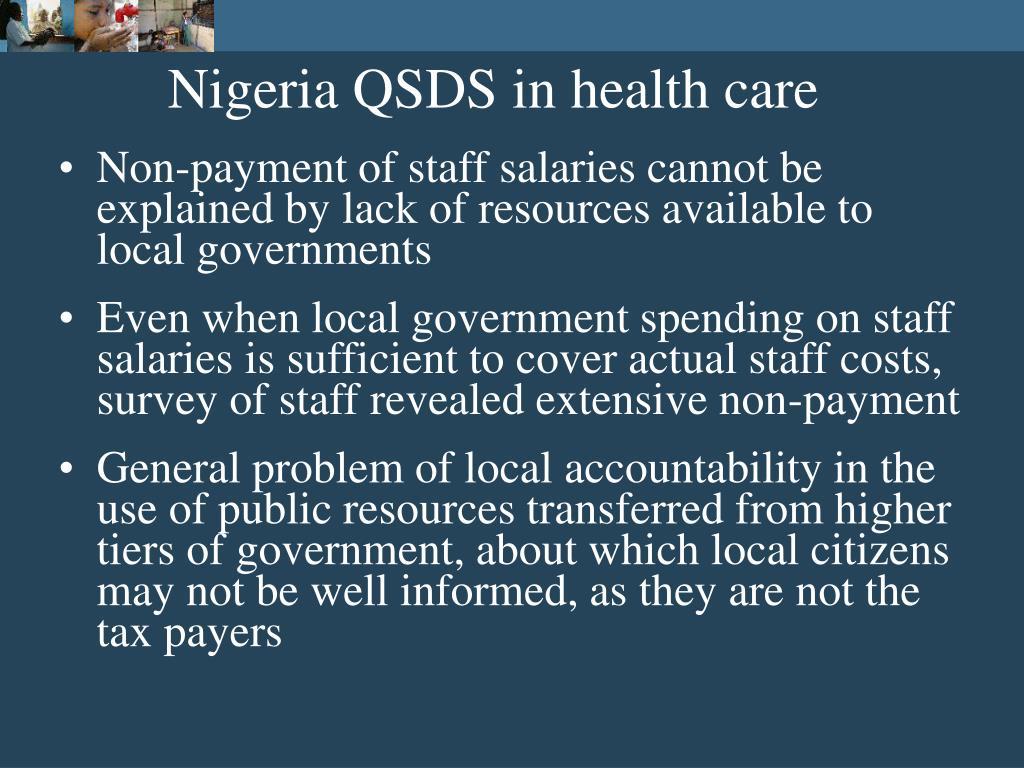 Nigeria QSDS in health care