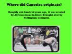 where did capoeira originate