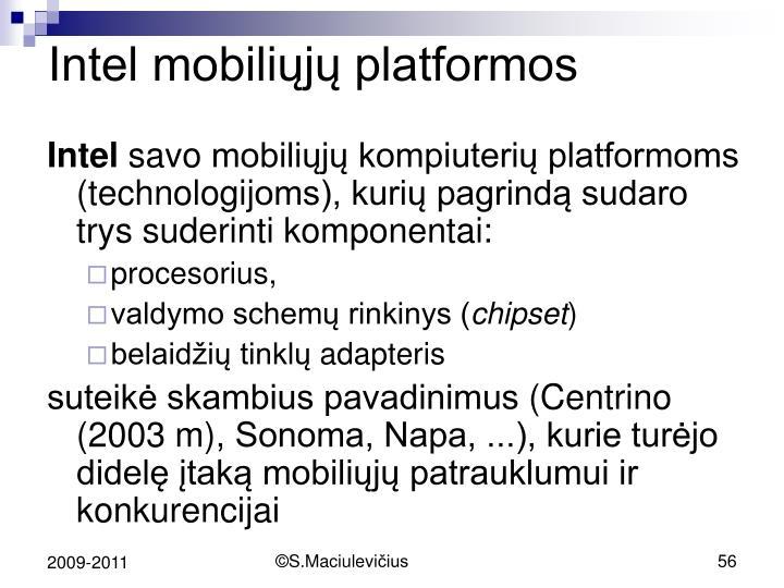 Intel mobiliųjų platformos