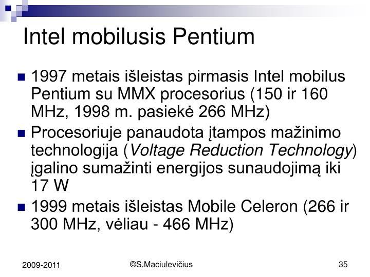 Intel mobilusis Pentium