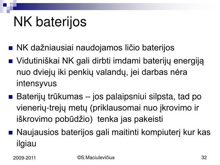 NK baterijos