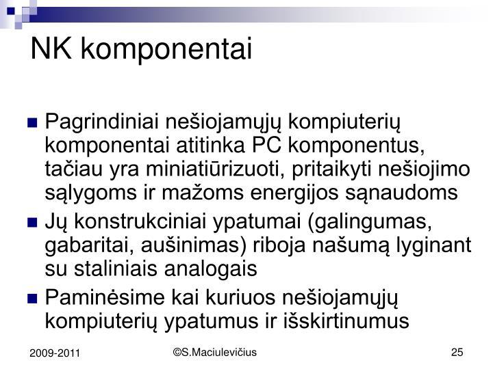 NK komponentai