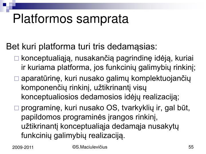 Platformos samprata