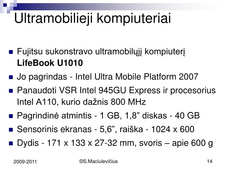 Ultramobilieji kompiuteriai