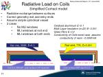 radiative load on coils simplified comsol model