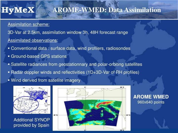 AROME-WMED: Data Assimilation