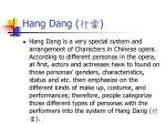 hang dang