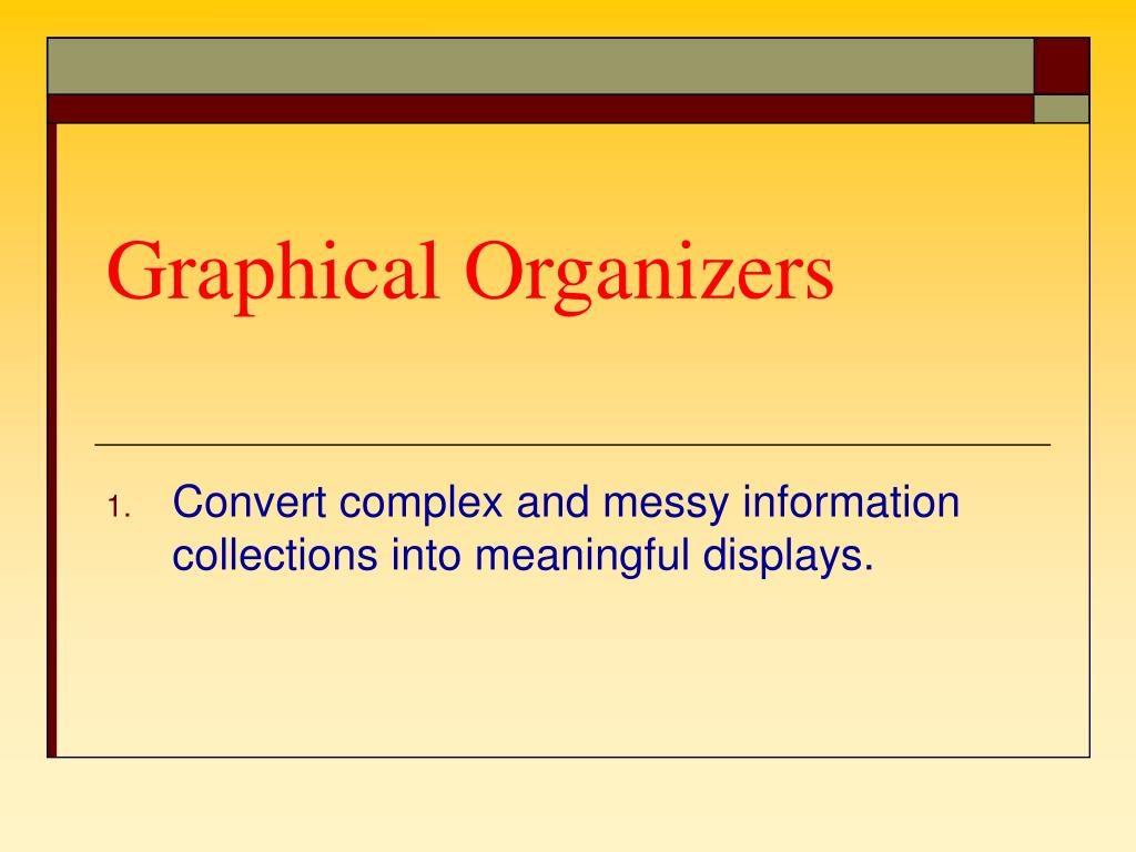 Graphical Organizers