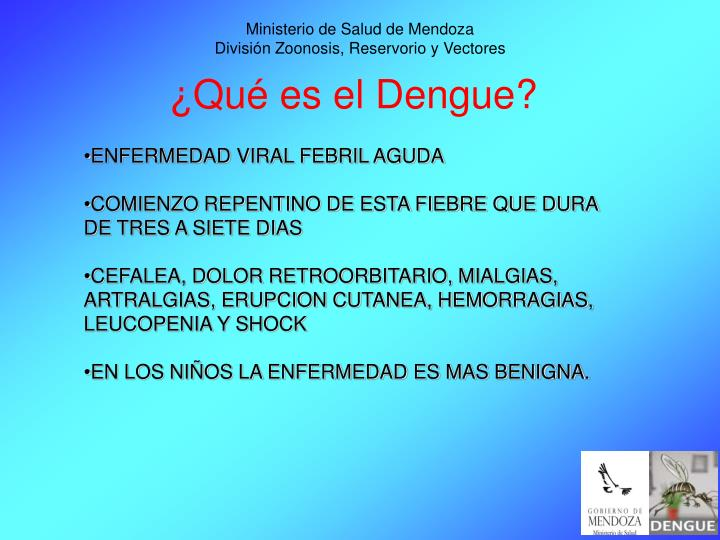 Ministerio de salud de mendoza divisi n zoonosis reservorio y vectores