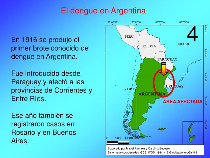 El dengue en Argentina