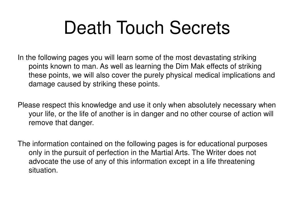death touch secrets l.