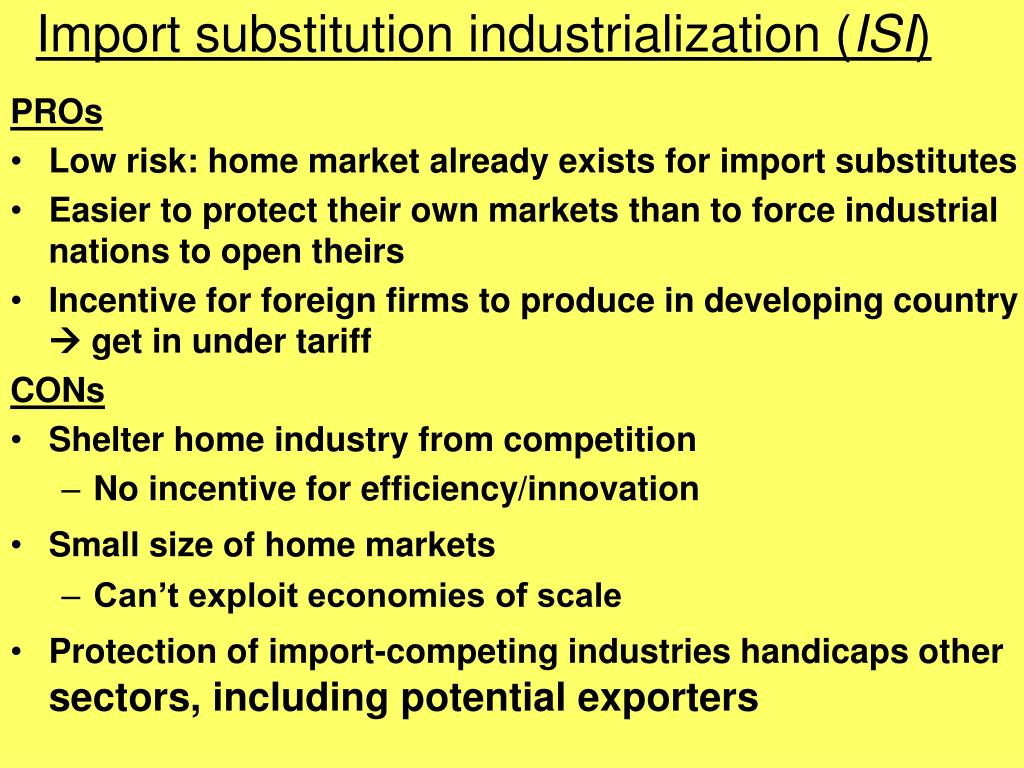 Import substitution industrialization (