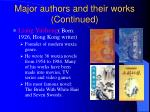 major authors and their works continued
