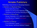 notable publishers