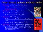 other famous authors and their works