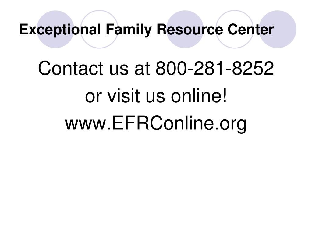 Exceptional Family Resource Center