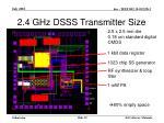 2 4 ghz dsss transmitter size
