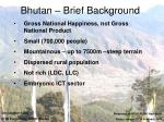 bhutan brief background