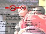 foss wto and culture no laughing matter