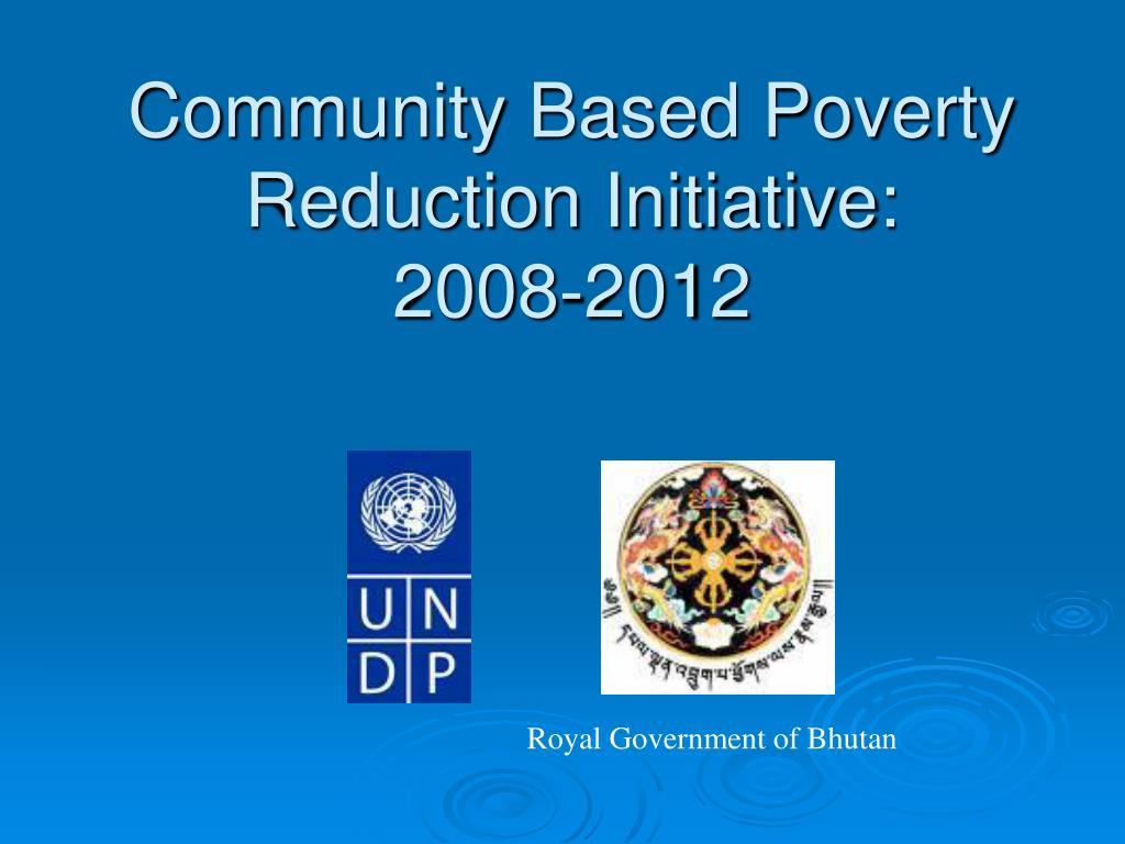 Community Based Poverty Reduction Initiative: