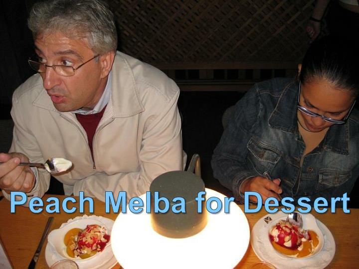 Peach Melba for Dessert