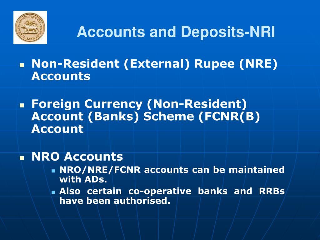 Accounts and Deposits-NRI