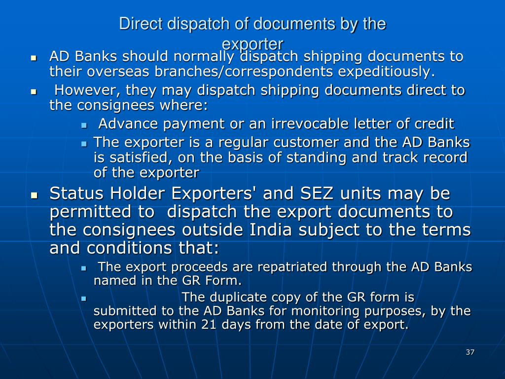 Direct dispatch of documents by the