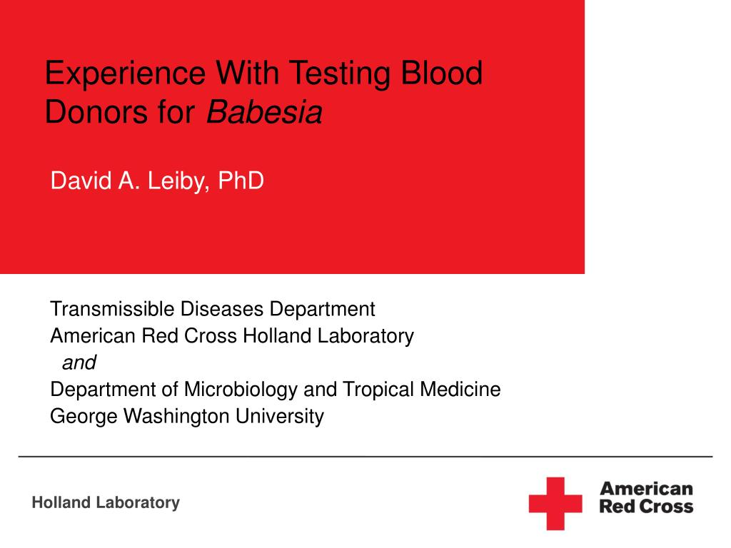 Experience With Testing Blood Donors for