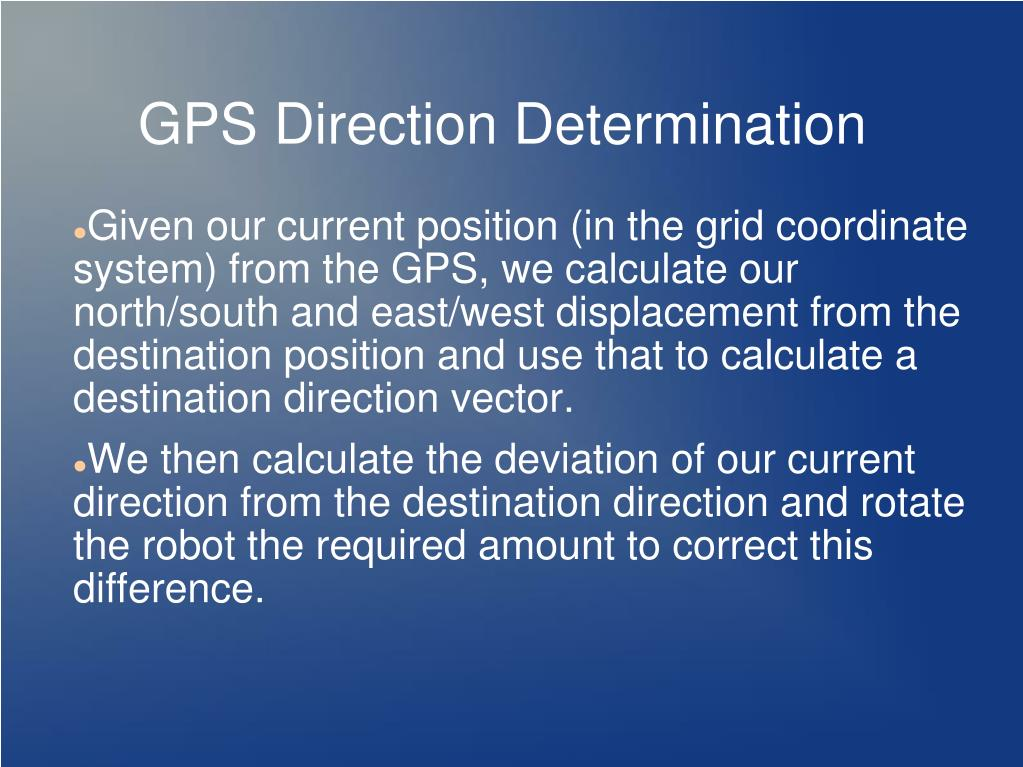 GPS Direction Determination