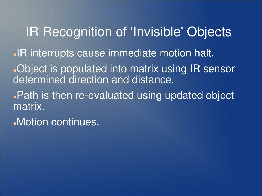 IR Recognition of 'Invisible' Objects