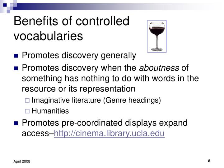 Benefits of controlled